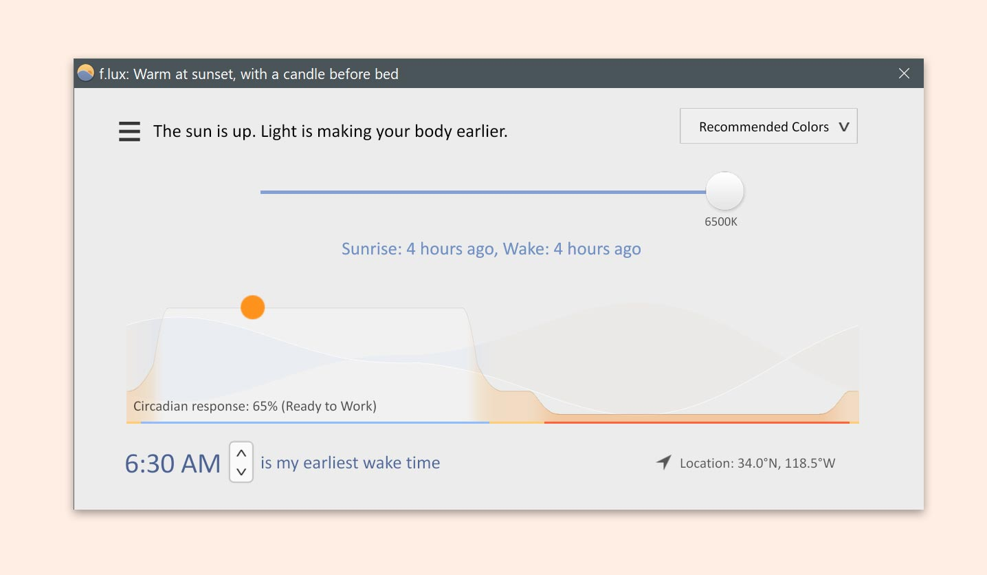 f lux: software to make your life better