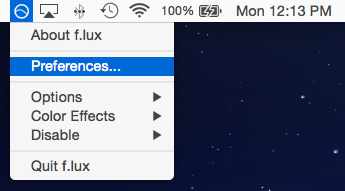 Welcome to f lux for macOS